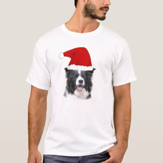 Colley étourdi Tee~Christmas de Dogz~Border T-shirt
