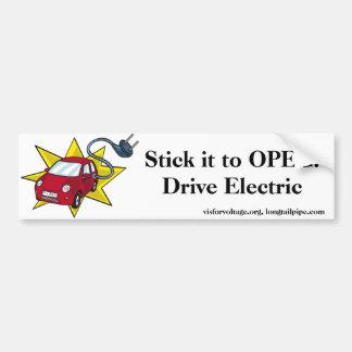 Collez-le à l'OPEP ! Commande électrique - adhésif Autocollant De Voiture