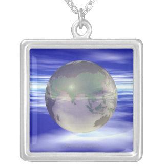 Collier 3D globe 3