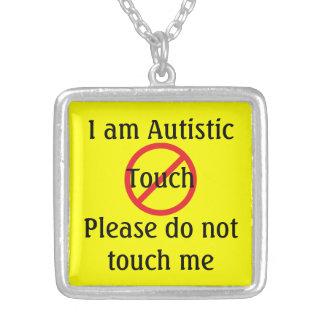 Collier Alerte médicale d'autisme aucun contact
