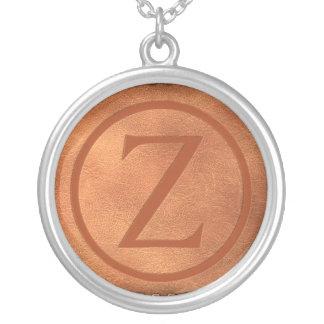 Collier alphabet cuir lettre Z