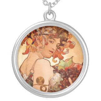 Collier Alphonse Mucha - les fruits