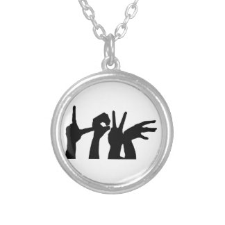 Collier Amour-Main-Silhouette