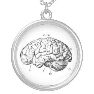 Collier Anatomie vintage de cerveau