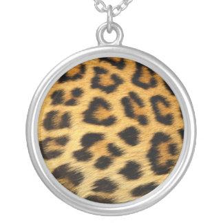 Collier Argent sterling Nacklace d'empreinte de léopard