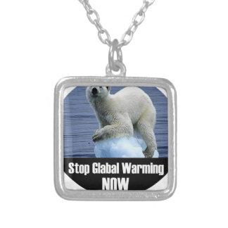 Collier Arrêtez le réchauffement climatique maintenant