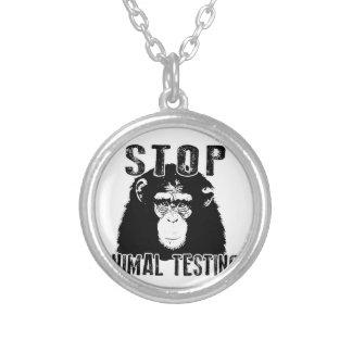 Collier Arrêtez l'expérimentation animale - chimpanzé