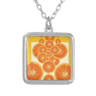 COLLIER ART MODERNE D'ABRÉGÉ SUR ORANGE CONTEMPORAIN