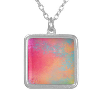 Collier Art spray abstrait coloré