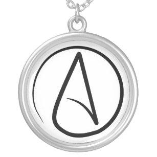 Collier athée mince de symbole
