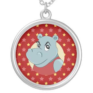 Collier Bande dessinée mignonne d'hippopotame
