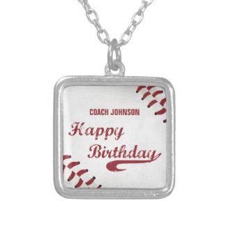 Collier Base-ball grunge de joyeux anniversaire