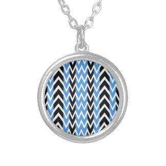 Collier Battements de coeur noirs et bleus