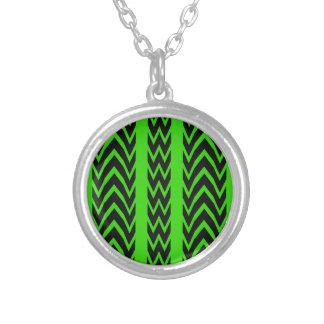 Collier Battements de coeur verts et noirs