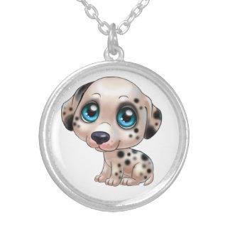 Collier bijoux dalmatiens de bande dessinée de chien
