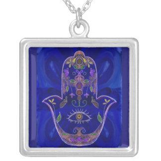 Collier bleu de Hamsa