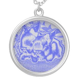 collier bleu de lapins