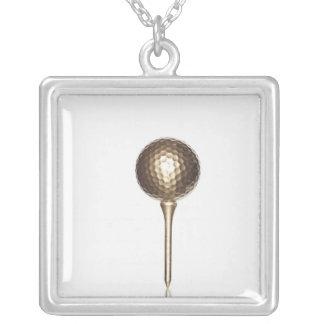 Collier Boule et pièce en t de golf d'or