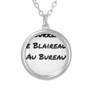 Collier BOURREAU DE BLAIREAUX AU BUREAU - Jeux de mots