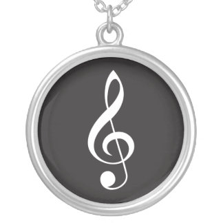 Collier Cadeau pendant de bijoux de clef triple de musique