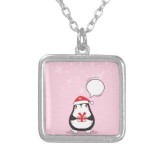 Collier Cadeau rose mignon de Noël de Noël de vacances de