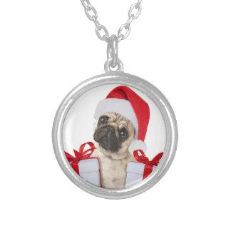 Collier Cadeaux de carlin - chien Claus - carlins drôles -