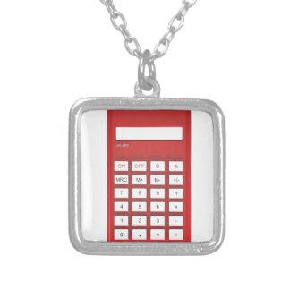 Collier Calculatrice rouge de calculatrice
