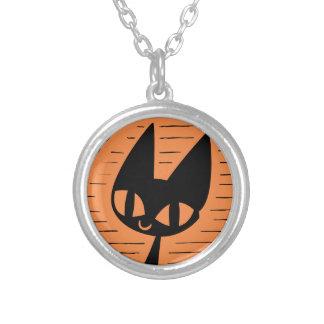 Collier Camée de chat noir de Halloween