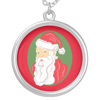 Collier Camée du père noël de Noël