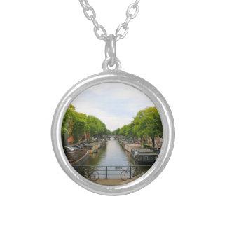 Collier Canal, ponts, vélos, bateaux, Amsterdam, Hollande