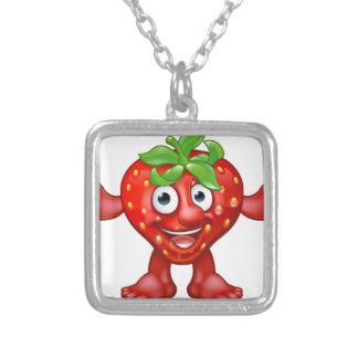 Collier Caractère de mascotte de fruit de fraise de bande