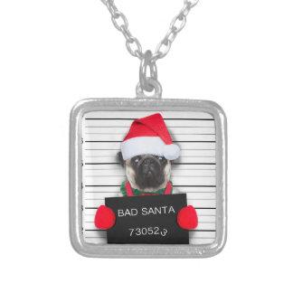 Collier Carlin de Noël - chien de photo - carlin de père