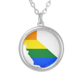 Collier Carte de drapeau de la Californie LGBT