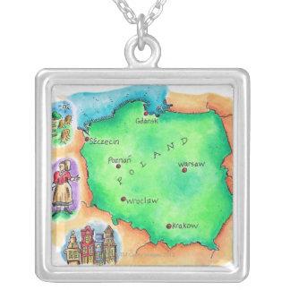 Collier Carte de la Pologne