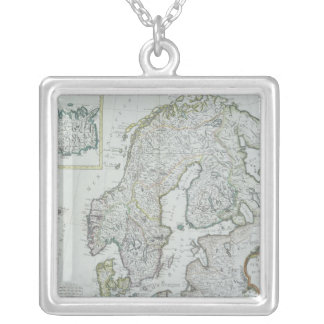 Collier Carte de la Scandinavie
