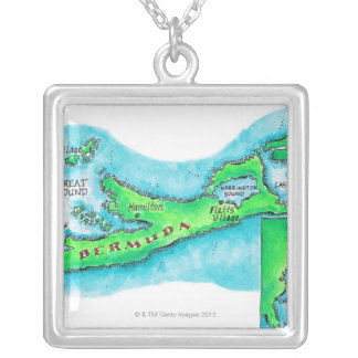 Collier Carte des Bermudes