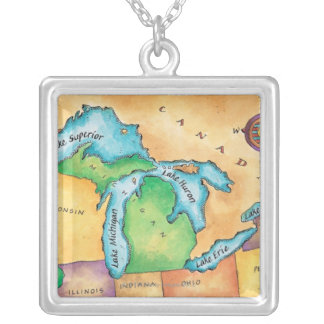 Collier Carte des Great Lakes