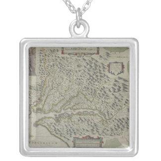 Collier Carte des montagnes en Virginie, Etats-Unis