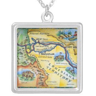 Collier Carte d'expédition de Lewis et de Clark