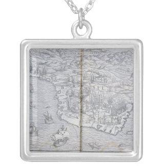 Collier Carte du Brésil du nord-est