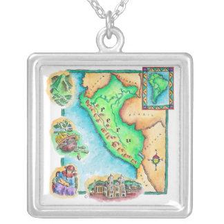 Collier Carte du Pérou