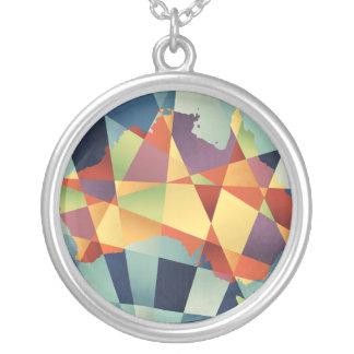 Collier Carte géométrique de l'Australie rétro