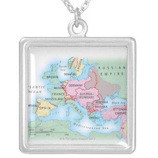 Collier Carte illustrée de l'Europe