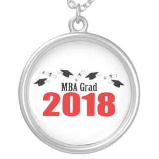 Collier Casquettes et diplômes 2018 (rouge) de diplômé de