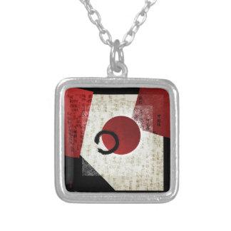 Collier Cercle d'Ensō de zen avec le potentiel 1 de kanji