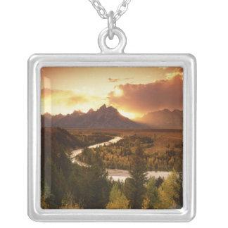 Collier Chaîne de Teton au coucher du soleil, de la