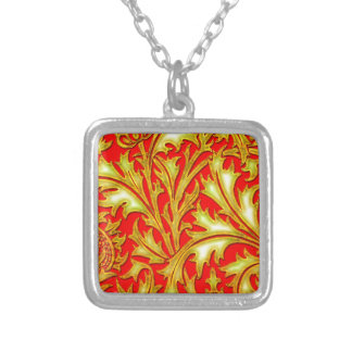 Collier Chardon rouge d'or