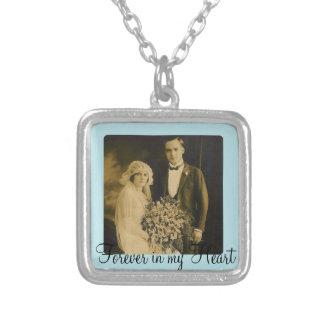 Collier Charme commémoratif de photo pour épouser le