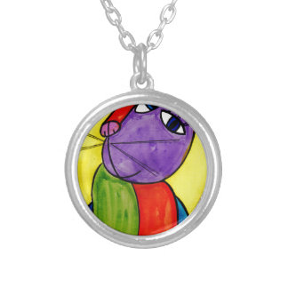 Collier Chat abstrait