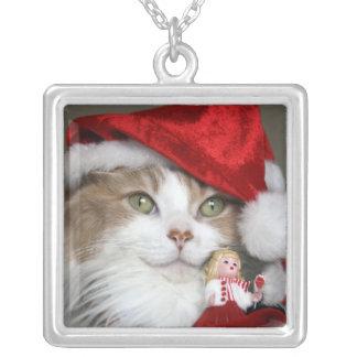 Collier Chat de Père Noël - chat de Noël - chatons mignons